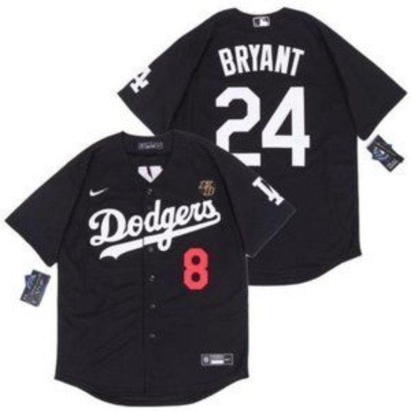 Shirts | La Dodgers Kobe Bryant Baseball Jersey Black | Poshmark